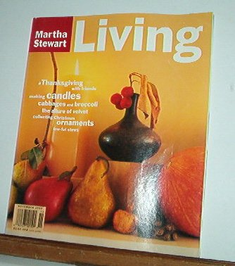 Magazine - Martha Stewart Living - Free Shipping - No. 24  November 1994