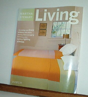 Magazine - Martha Stewart Living - Free Shipping - No. 51 July/August 1997