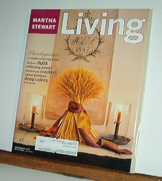 Magazine - Martha Stewart Living - Free Shipping - No. 54  November 1997