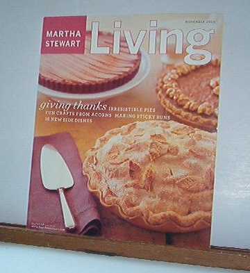 Magazine - Martha Stewart Living - Free Shipping - No. 120 November 2003