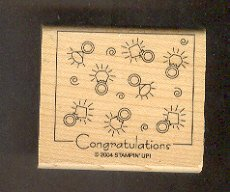 Rubber Stamp - Scrapbooking - Wood Mount  - New -  Stampin Up - Congratulations & Rings