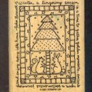 Rubber Stamp - Scrapbooking  Wood Mount New Stampin Up - Tree Mouse Quilt with phrase - 3 X 4 ""