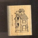 """Rubber Stamp Scrapbooking - Wood Mount - New - Stampin Up Bird House 2 X 1.5"""""""
