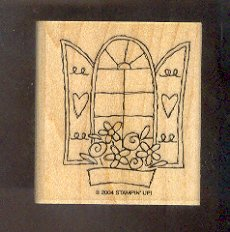 Rubber Stamp Scrapbooking - Wood Mounted - New - Stampin Up - Open Window 2 X 2.5""