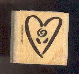 Rubber Stamp Scrapbooking - Wood Mount - New - Stampin Up - Heart 1.5 X 1.5""