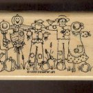 """Rubber Stamp Scrapbooking - Wood Mounted - Stampin Up - New - Halloween Scarecrows -  2 X 3.75"""""""