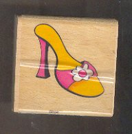 Rubber Stamp Scrapbooking - Wood Mounted - New - Sarah Beise - Fancy Shoe 2X2""