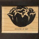 """Rubber Stamp Scrapbooking - Wood Mount - New - Stampin Up - Peony bloom - 1.25X2"""""""