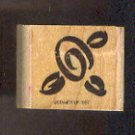"""Rubber Stamp Scrapbooking - Wood Mount - New - Stampin Up - Flower 1.25 X 1.25"""""""