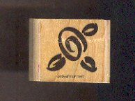 Rubber Stamp Scrapbooking - Wood Mount - New - Stampin Up - Flower 1.25 X 1.25""