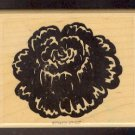Rubber Stamp Scrapbooking - Wood Mount - New - Stampin Up - Flower 3 X 4""