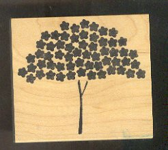 """Rubber Stamp Scrapbooking - Wood Mount -  New - Memory Box  - Tree of Stars 3X 2.5"""""""