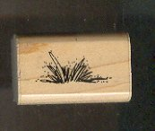Rubber Stamp Scrapbooking - Wood Mount - Used - Stampin Up - Grass - 1X 1.5""
