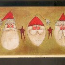Rubber Stamp Scrapbooking - Wood Mount - New - Stamps Happen - Five Santas 2.25X6.5""