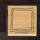 """Rubber Stamp Scrapbooking - Wood Mount - Unused - Stampin Up  - Frame - 1.5X1.5"""""""