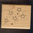 Rubber Stamp Scrapbooking - Wood Mount - New - Stampin Up - Stars & Stardust 2X2""