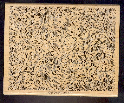 Rubber Stamp Scrapbooking - Wood Mount - New - Stampin Up - Lace Background 5 X 6.5""