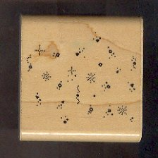 Rubber Stamp Scrapbooking - Wood Mount - D.O.T.S. - Used - Confetti Chunks 2.X.2