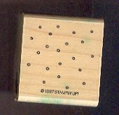 Rubber Stamp Scrapbooking - Wood Mount - Used - Stampin Up - Little Circles Confetti 1.5X1.5""