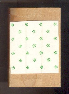 Rubber Stamp Scrapbooking - Wood Mount - Used - Small Flower Background 2X 2 inches