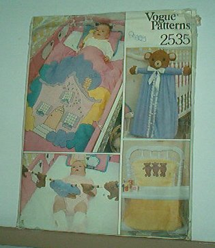 Sewing Pattern Vogue 2535 Baby nursery gear