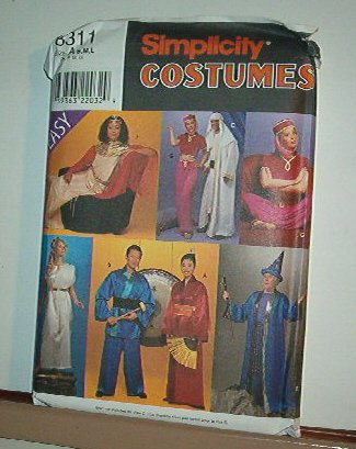 Sewing Pattern Simplicity 8311 Costumes Magic and mystery characters. Size S-L (34-44)