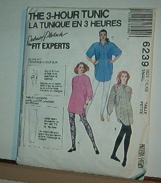 Sewing Pattern  6239 Palmer Pletsch 3-Hour Tunic Big Shirt Size 10-12