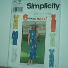 Sewing Pattern  Simplicity 8070 Dress with six variations Size 6-10
