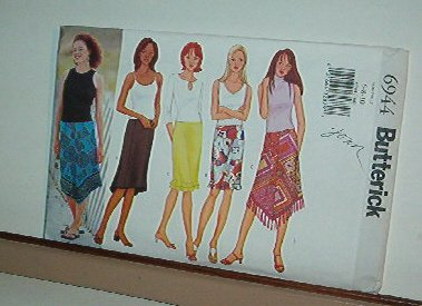 Sewing Pattern  Butterick 6944 skirt with hem variations Size 6-10