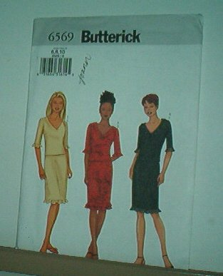 Sewing Pattern Butterick 6569 Top and skirt with variations Size 6-10