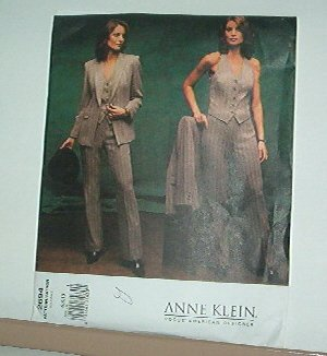 Sewing Pattern Vogue 2695 Anne Klein Pantsuit with vest size 6 -10