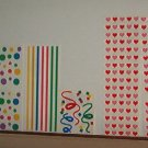 Scrapbooking - Stickers Stripes, confetti and hearts