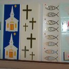 "Scrapbooking - Bible, Church, Cross - 2 X 6.5"" - New - Stickers"