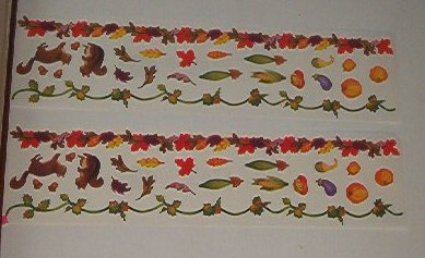 "Scrapbooking - Stickers Strips 3 X 12 "" - Harvest fruit & Borders"