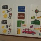 "Scrapbooking - Stickers - Travel - Great Escapes - New - 2 X 6"" strips"