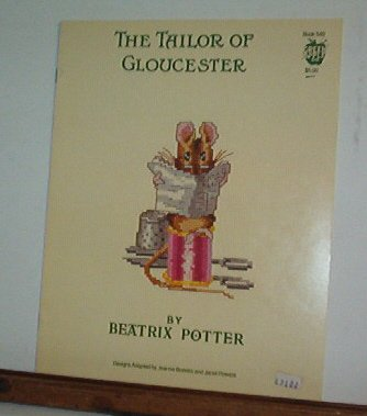 Cross Stitch Patterns - 4 designs  with mice - THE TAILOR OF GLOUCESTER  - PEATRIX POTTER Sweet