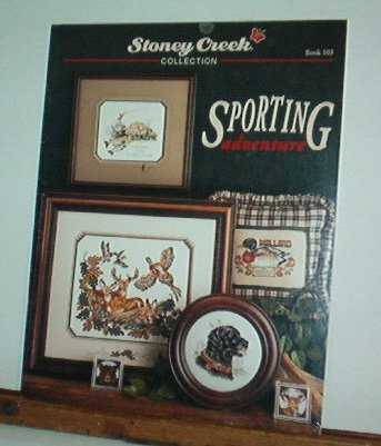 Cross Stitch Patterns - 8 designs - Stoney Creek Sporting Adventure: duck,deer,bear,dog,plus