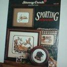 Cross Stitch Patterns - 8 designs - Stoney Creek Sporting Adventure: duck,deer,bear,dog,plus