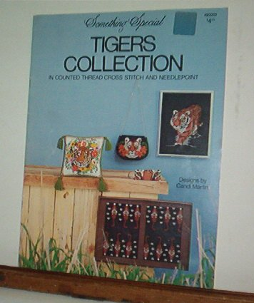 Cross Stitch Patterns - 8 designs - TIGER COLLECTION Various kinds