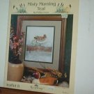 Cross Stitch Patterns One Large Design MISTY MORNING TEAL - DUCK Handsome