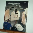 Cross Stitch Pattern FINGERTIPS IN ACTION Sports Gear 10 Designs & alphabet