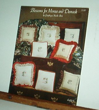 Cross Stitch Pattern, BLOSSOMS FOR MONZA AND DAMASK 6 designs