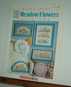 Cross Stitch Pattern, MEADOW FLOWERS  by Karen Avery 5 designs + alphabet
