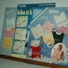 Cross Stitch Pattern, Baby BIBS  3 Booklets with 24 border designs