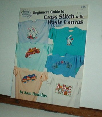 Cross Stitch Pattern, BEGINNERS GUIDE TO WASTE CANVAS CROSS STITICH  15 designs + alphabet