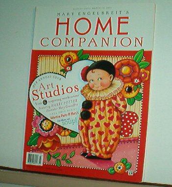 Magazine - Mary Engelbreit - HOME COMPANION - Like New - Free Shipping - Feb/Mar 2001
