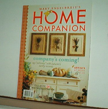 Magazine - Mary Engelbreit - HOME COMPANION - Like New - Free Shipping - Oct/Nov 2002