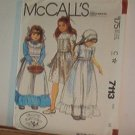 Sewing Pattern McCall's 7113 Girls dress apron & bonnet Very Sweet Size 10