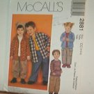 Sewing Pattern McCall's 2881 Boys & Girls shirt, top & pull on pants Size 2 3 4