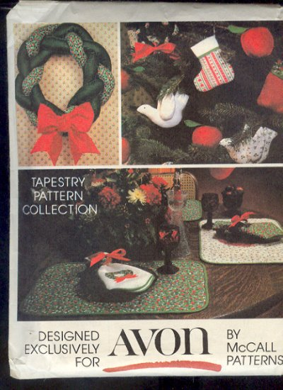 Sewing Pattern  McCall's 5380 Christmas tapestry Collection for Avon